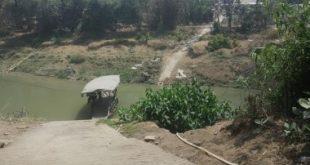 Lokasi pembangunan jembatan penghubung antara Kecamatan Bojongmangu - Kecamatan Pangkalan Kabupaten Karawang