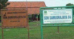 SD Negeri Samudrajaya 04 yang berada di Kp. Tambun Tiga, Desa Samudrajaya, Kecamatan Tarumajaya.