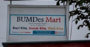 Bumdes Mart Simpangan Mandiri di Desa Simpangan Kecamatan Cikarang Utara.